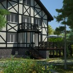 Реконструкция фасадов в немецком стиле_Вид  6