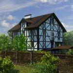Реконструкция фасадов в немецком стиле_Вид  2